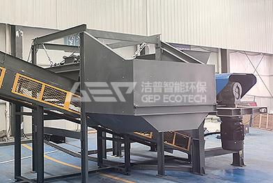 Ligne de production d'élimination des déchets encombrants du Zhejiang en Chine
