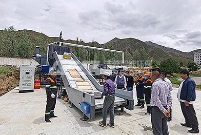 Ligne de production d'élimination des déchets volumineux en Chine Lhassa