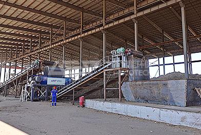Ligne de production d'élimination de déchiquetage de paille de maïs du nord-est de la Chine