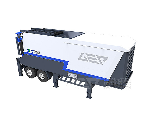 New upgraded mobile solid waste crushing station to realize domestic garbage recycling